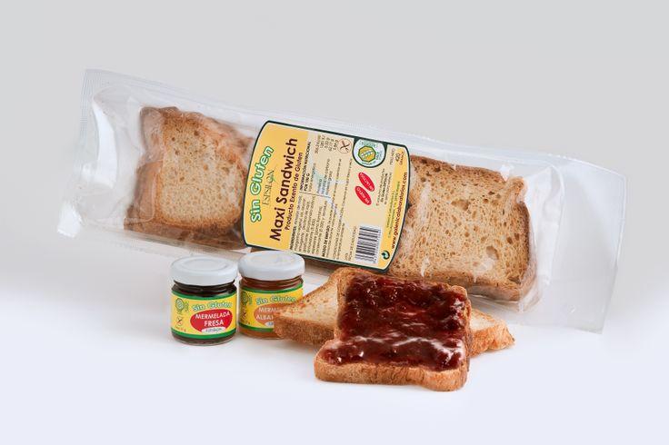 Pan de Molde con mermelada sin gluten
