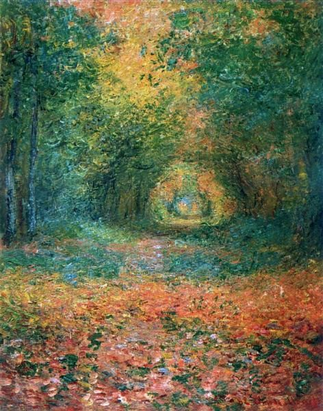 ← → The Undergrowth In The Forest Of Saint-Germain Claude Monet Date: 1882