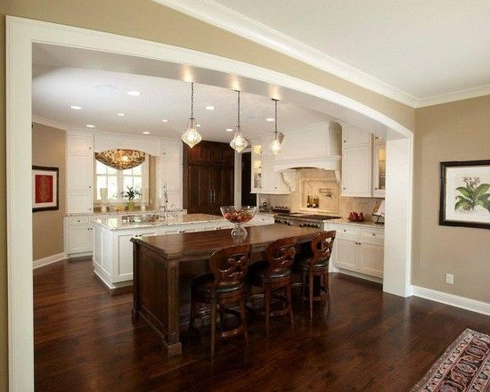 Spaces kitchen arch trim doorway design pictures remodel for Arch ideas for home