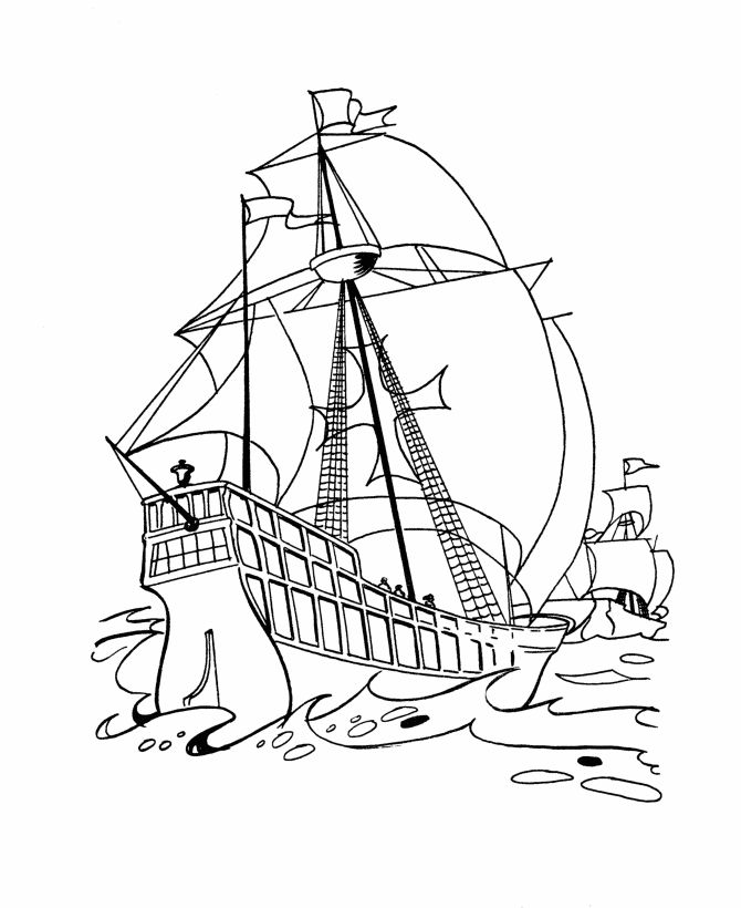 Christopher Columbus Day Coloring