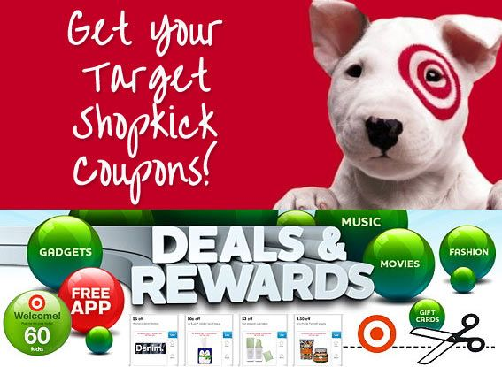 Lots of awesome back to school Target coupons! Shopkick: New Target Coupons- Aug. 2013 - #target #coupons