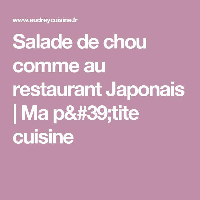 Salade de chou comme au restaurant Japonais   Ma p'tite cuisine
