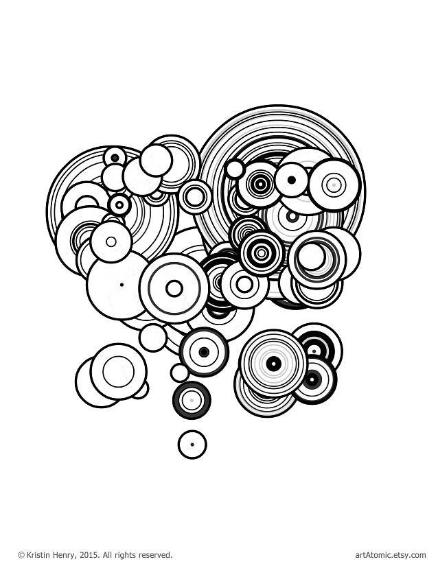 Downloadable Adult Coloring Page: Generative Particles