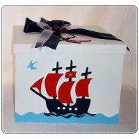 Κουτί Βάπτισης με σχέδιο πειρατικό καράβι .   #kouti_vaptisis_peitatiko_karavi #peiratiko #peiratiko_karavi #vaptisi_peiratis
