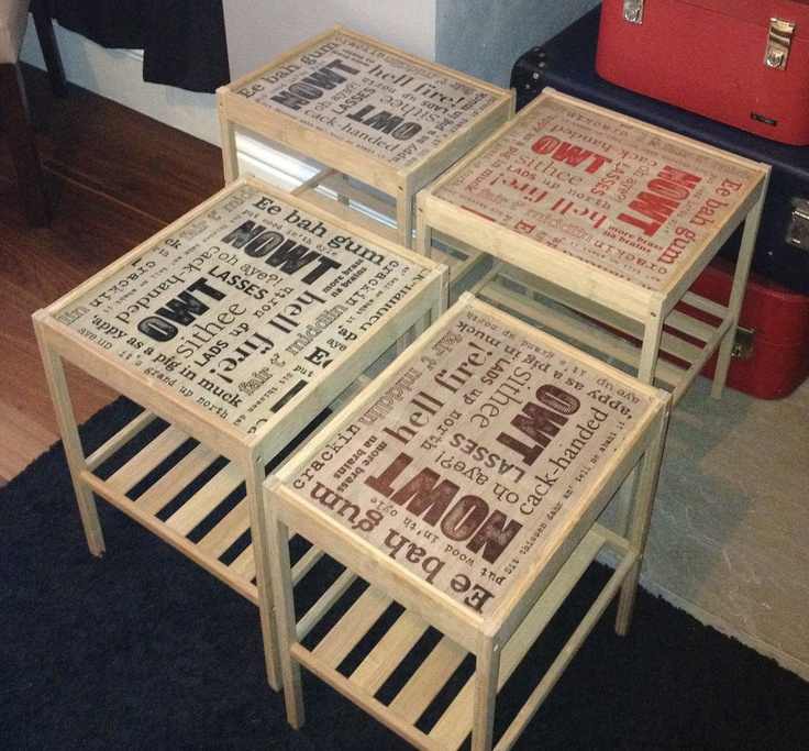 Yorkshire Phrases Tables. £40.00, via Etsy.