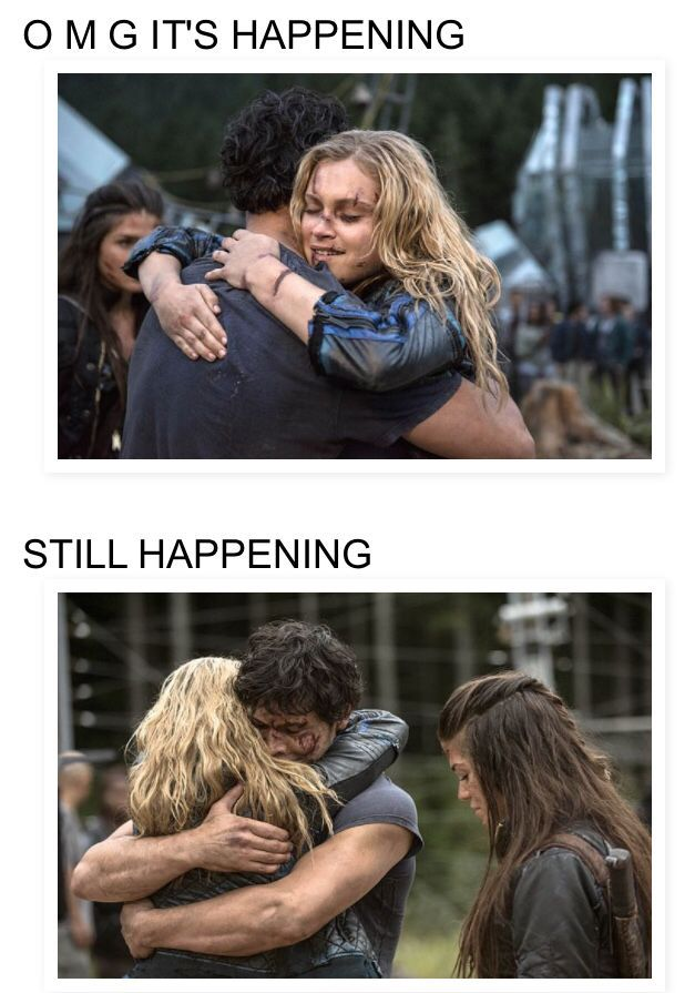 #The 100! Bellarke hug season 2 05 (Oh if only they would kiss!!) But I guess I will settle for this lovely hug