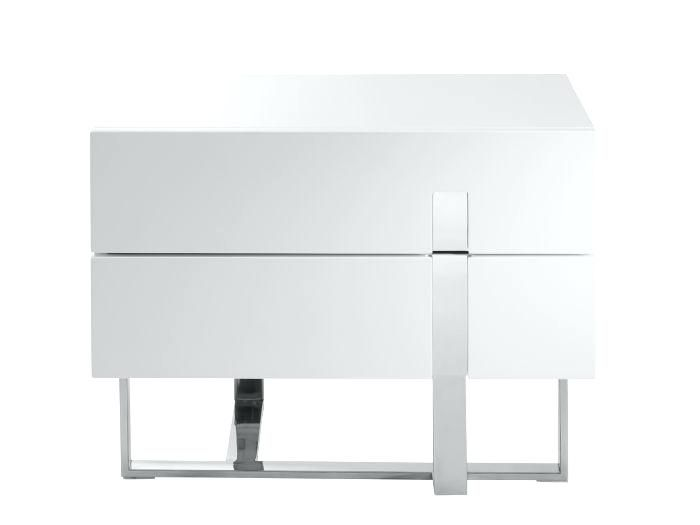 White Lacquer Nightstand Home Nightstand High Gloss White Lacquer