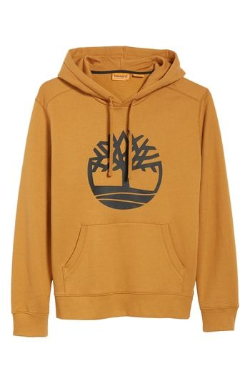 ea393e173b TIMBERLAND LOGO HOODIE SWEATSHIRT. #timberland #cloth. Find this Pin and  more on Timberland by ModeSens Men.