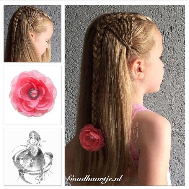 Lace twist side braid. You can do the twists at one or two sides of your head.  by @goudhaartje.nl
