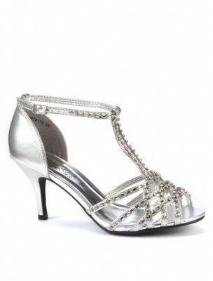 cf574b758de Silver Diamante Strappy Heels -NewLook  Promheels  Promshoes