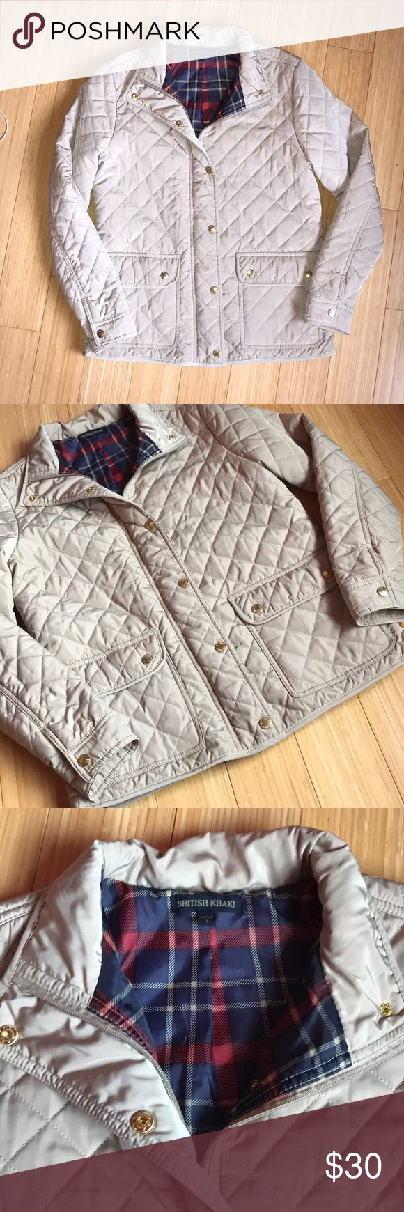 Quilted jacket Quilted British Khaki jacket with gold buttons, in perfect condition and never worn. Please feel free to make an offer :) British Khaki Jackets & Coats