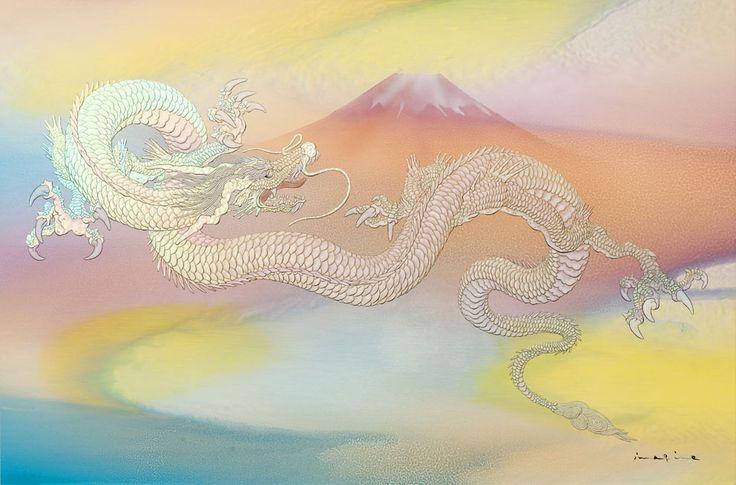 富士越えの龍(特別注文作品)