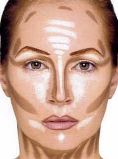Kevyn Aucoin's famous contouring example from his book Face Forward