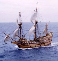 The Sailing of the Mayflower on this day 18th September, 1620. carrying the Pilgrim Fathers to the New World