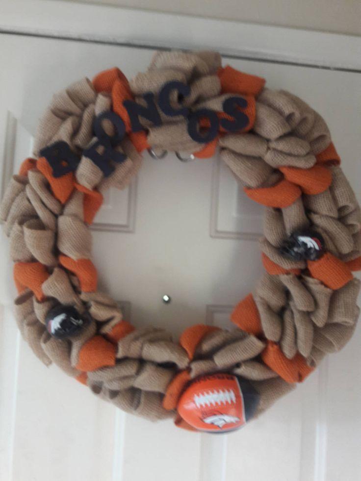 Medium Denver Broncos Wreath by UniqueOccasionGift on Etsy