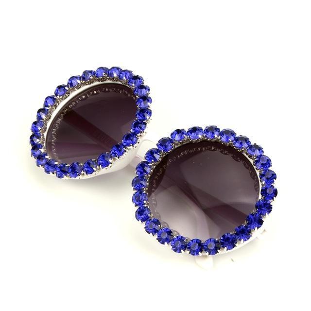 14.97 Color  Polard 17 Design Round Oversized Polard Sunglasses Women  Luxury Rhinestones 2f4d09f1b9