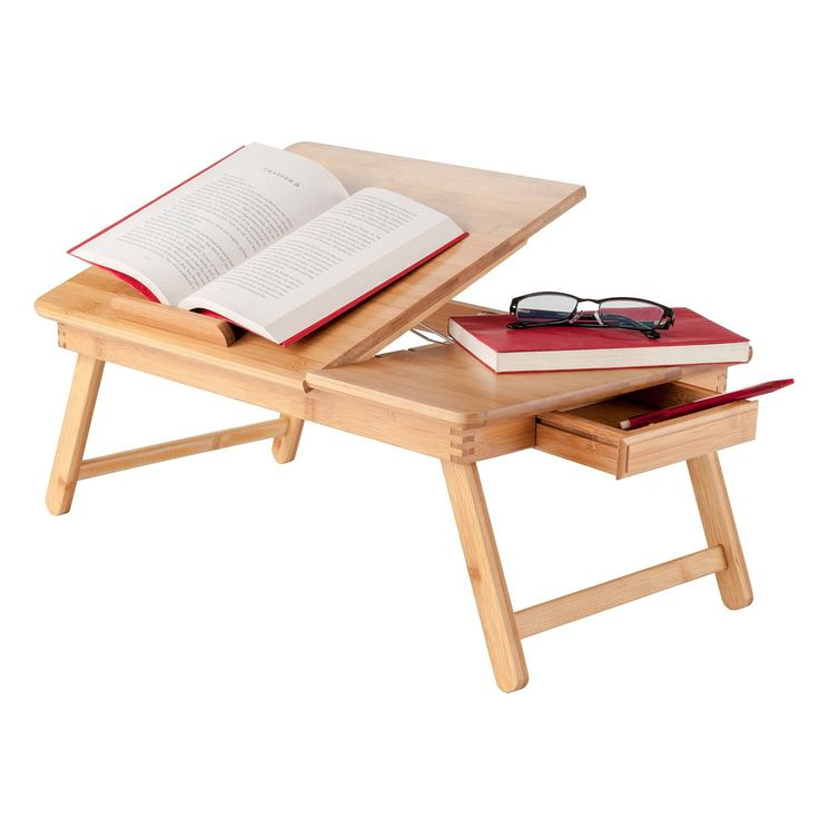 Baldwin Lap Desk With Flip Top Bamboo