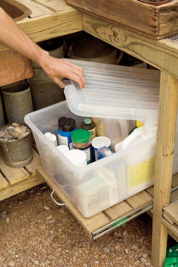 Best Garden Storage Images On Pinterest Gardening Potting
