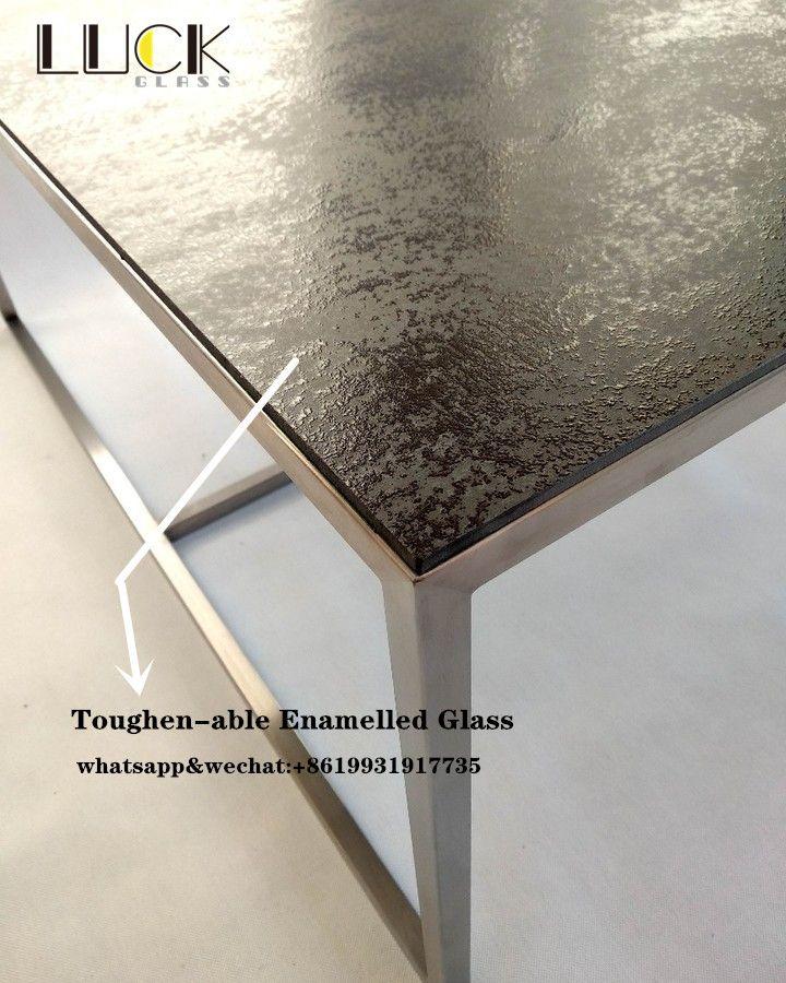 Fritted Glass Fritted Glass Glass Glass Top Table