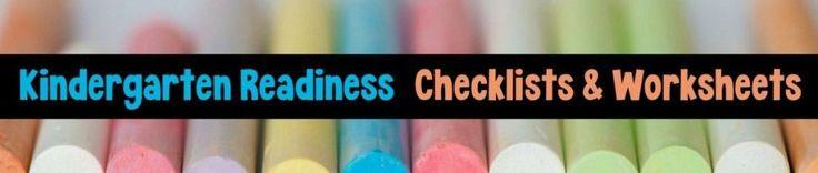 Kindergarten Readiness Free Printables, Checklists…