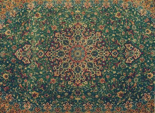 Handgeknoopt oosterse tapijt