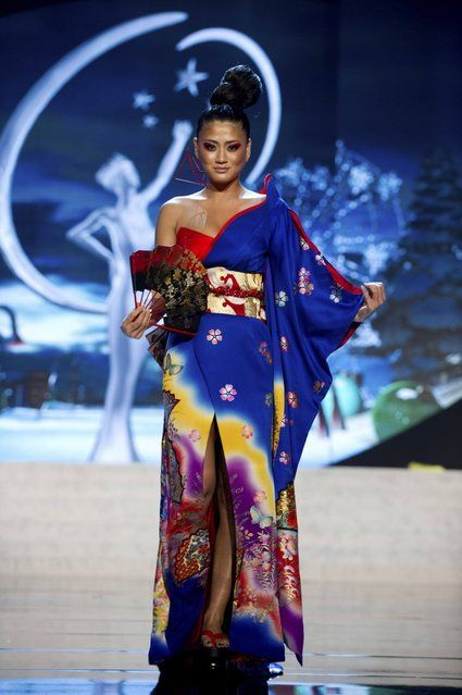 Miss Japan Ayako Hara on stage at the 2012 Miss Universe National Costume Show on Friday, December 14, 2012 at PH Live in Las Vegas, Nevada. The 89 Miss Universe Contestants will compete for the Diamond Nexus Crown on December 19, 2012. (Photo by AP Photo/Miss Universe Organization L.P., LLLP) http://avaxnews.me/appealing/Miss_Universe_National_Costume_Show_2012.html