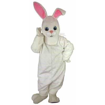 Hoppy Rabbit Mascot | White Easter Bunny Mascot - Our Price: $994.95