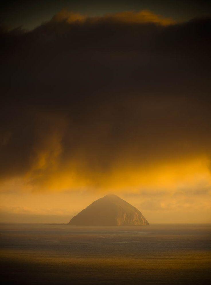 Ailsa Craig, from Kildonan bay, Isle of Arran