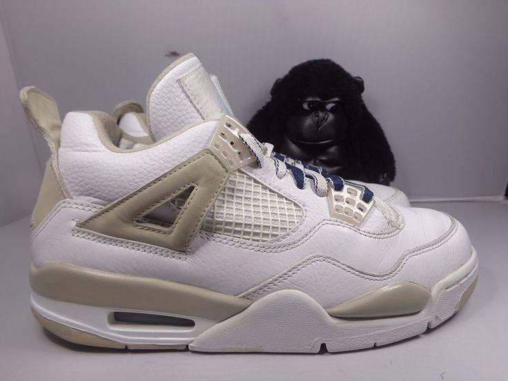 Womens Nike Air Jordan IV 4 Retro Basketball shoes size 8.5 US 313559-142 #Nike #BasketballShoes