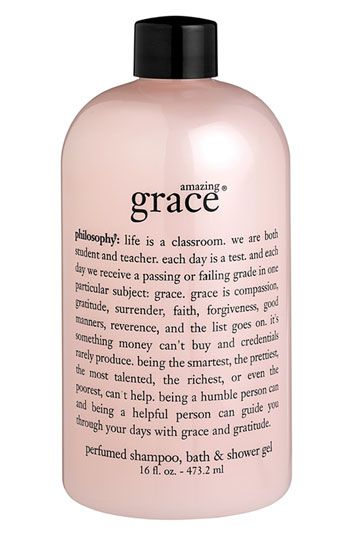 Philosophy's Amazing Grace Shampoo, Bath and Shower Gel gives me the clean and pure scent I adore.
