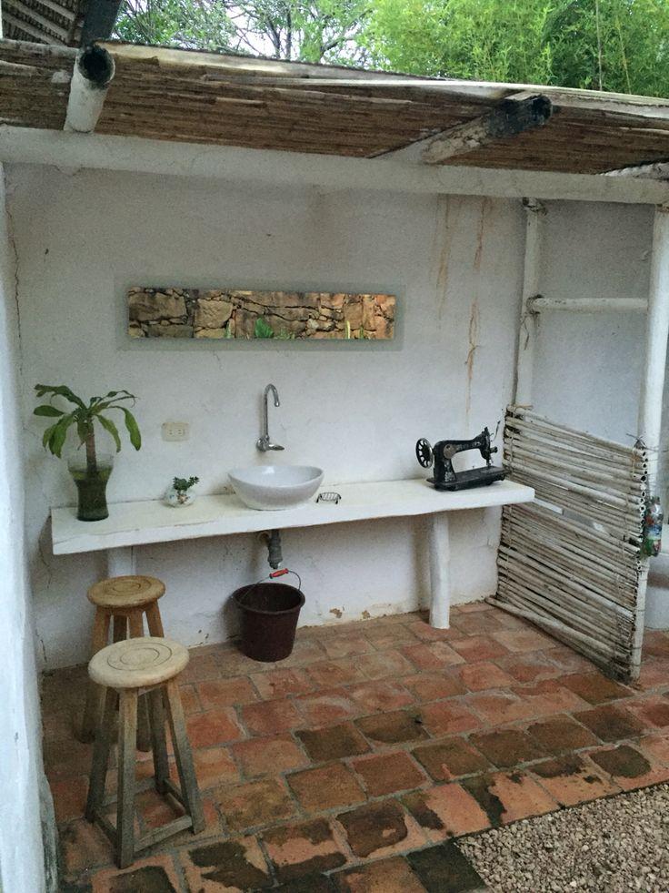 Bathroom. Barichara, Colombia.  By iphone.