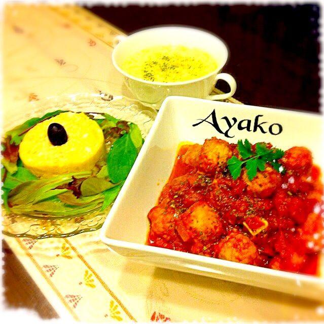 みんなが大好きなポテトサラダにアンチョビをプラス♪お酒のおつまみにも、なりますよ(*^^*) - 165件のもぐもぐ - ミートボールのトマト煮込み、ポテトサラダのアンチョビ風味、コーンポタージュ by ayako1015