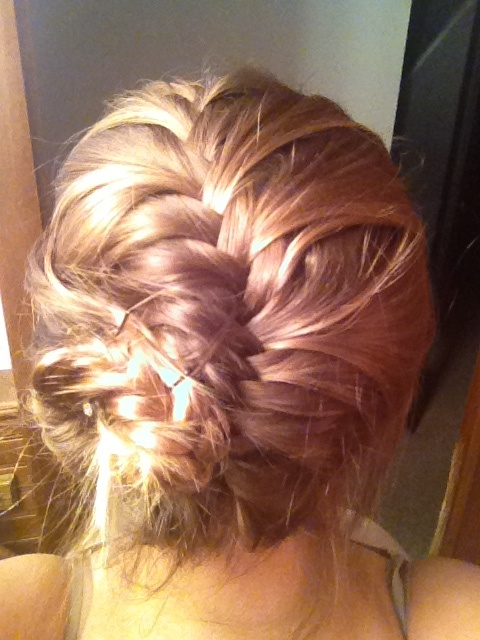 My first attempt at the conch shell braid