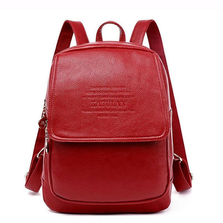 2016 Fashion High-Quality Leather Large-Size Chic Backpack 5 Colors