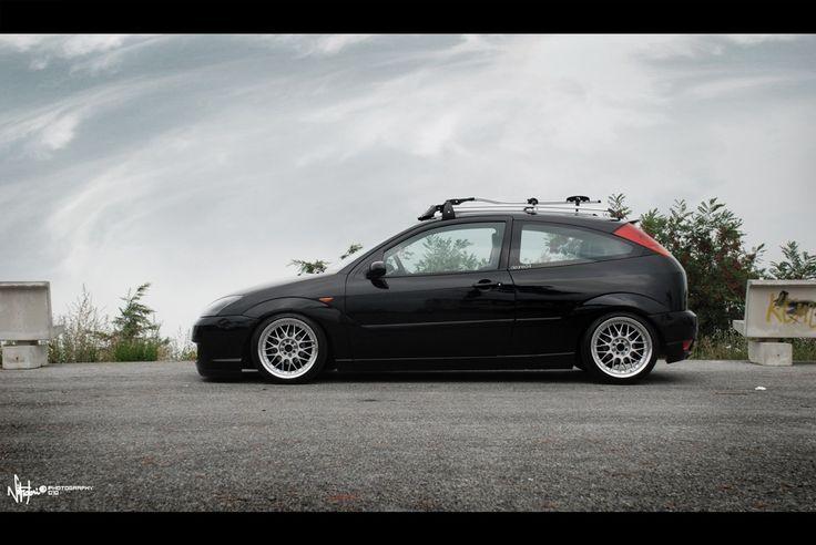 Black, Low Ford Focus mk1, big rims