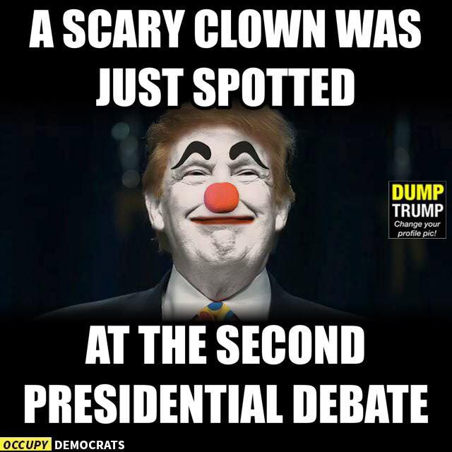 Funniest Memes from the Second Presidential Debate: Scary Clown