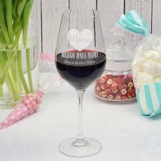 Grawerowany kieliszek do wina SERCE MAMY idealny na urodziny
