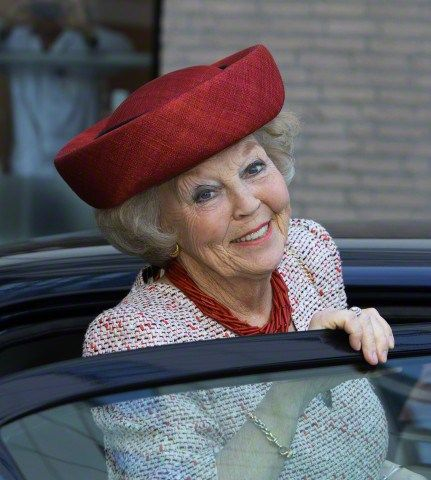 Posted on April 21, 2015 by HatQueen...Princess Beatrix of the Netherlands visited her namesake Children's Hospital at the University Medical Center Groningen to unveil a new art installation.....Princess Beatrix, April 21, 2015 in Suzanne Moulijn | Royal Hats