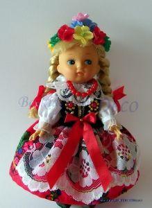Lalka w stroju ludowym krakowskim