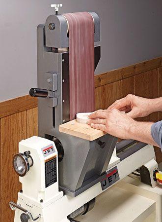 Lathe Driven Belt Sander Woodsmith Plans Wood Shop Ideas