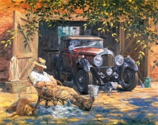 Classic Car Paintings By Alan Fearnley Classic Cars And Trucks
