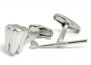 Dentist Tooth and Mirror Cufflinks - $25