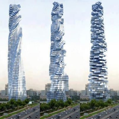 Da Vinci Towers Dubai - The Tower in Motion(rotating future tower)
