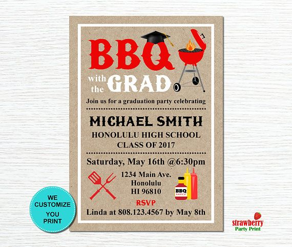 43 best graduation images on pinterest grad parties graduation graduation bbq invitation backyard bbq barbeque party cookout invitation summer cookout printable filmwisefo Images
