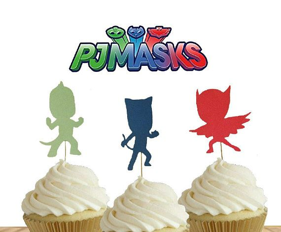 Check out this item in my Etsy shop https://www.etsy.com/listing/535737226/12-pj-masks-cupcake-toppers-pjmasks