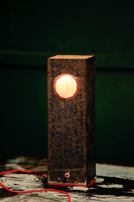 Rustic minimal night table shade lamp by herywalery on Etsy