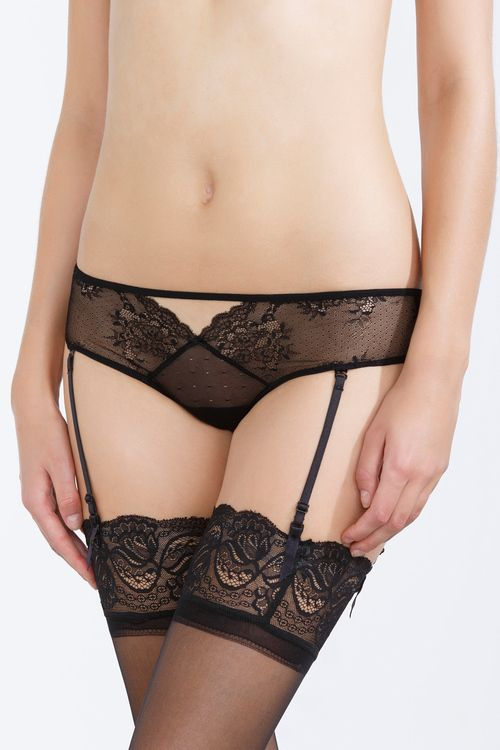 women'secret | Limited edition | Lace Brazilian brief with detachable suspenders
