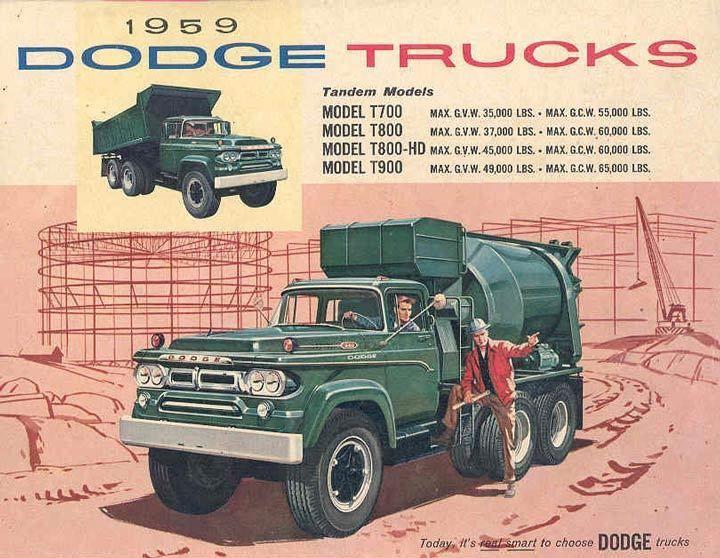 Details about 1959 Dodge Tandem Mixer Dump Truck Sales ...
