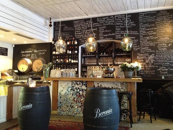 Beautiful wine restaurant Tintå in Turku, Finland.