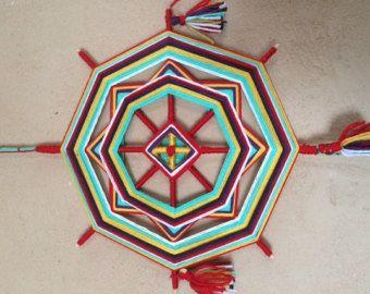 Magische Mandala genaamd The Star, met liefde gemaakt  Deze magische Mandala genaamd The Star, dat deel uitmaakt van de Indiase mandalas serie (29 cm in diameter).   --MET LIEFDE GEMAAKT. Elke illustratie en product is gemaakt met liefde en positieve bedoelingen